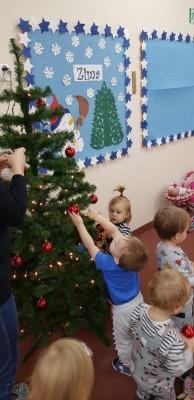 grupa Biedroneczki - w przygotowaniu do Świąt Bożego Narodzenia