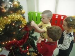 grupa Rybki, Żabki oraz Motylki - w przygotowaniu do Świąt Bożego Narodzenia